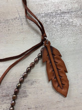 Copper Pearl Tooled Necklace