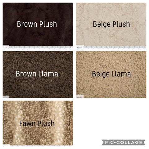 Brown minky backing options