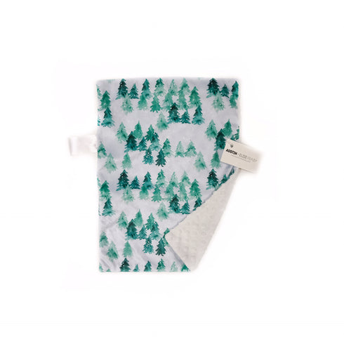 snow covered trees minky blanket