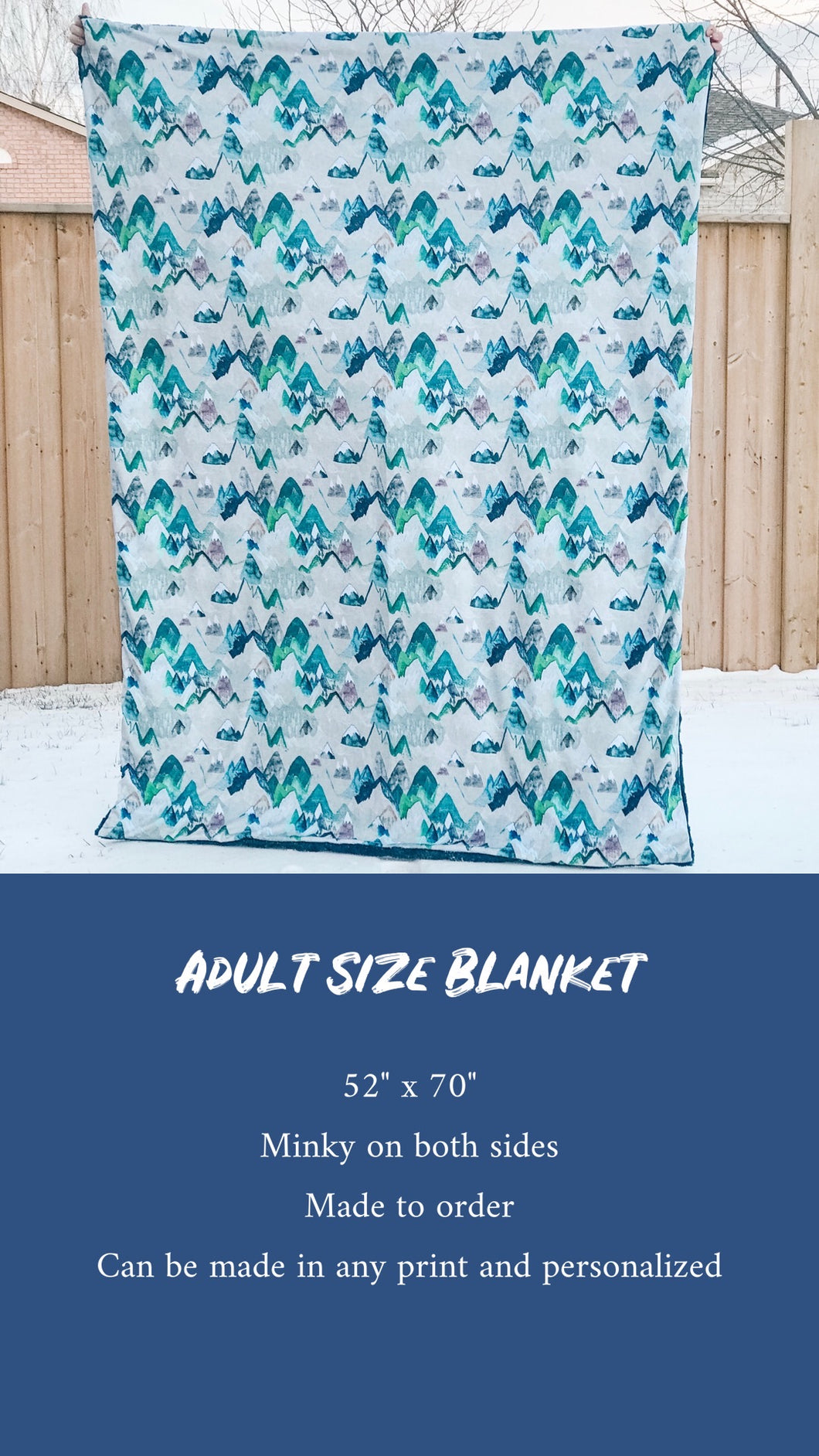 CUSTOM Adult Blanket Size