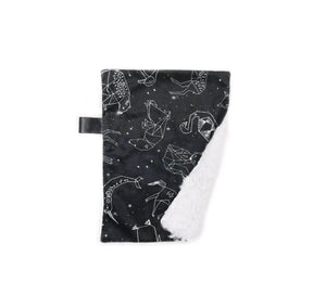 Monochrome Black/White Constellations Minky Blanket - Small Lovey Size