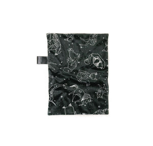 monchrome black and white constellations baby lovey blanket