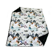 "Load image into Gallery viewer, Earth ""Call of the Mountains"" Minky Blanket - Baby Blanket Size"