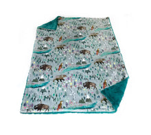 Load image into Gallery viewer, Great north woodland minky baby blanket