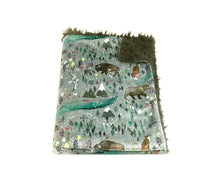 Load image into Gallery viewer, Woodland Northern Lights Minky Blanket - Baby Blanket Size