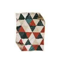 Load image into Gallery viewer, copper olive linen triangle quilt minky baby blanket