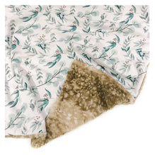 Load image into Gallery viewer, eucalyptus leaves minky baby blanket
