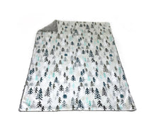 "Load image into Gallery viewer, Grey ""Solitude"" Trees Minky Blanket - Baby Blanket Size"