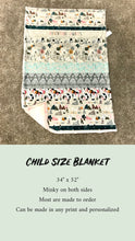 Load image into Gallery viewer, Farm Life Minky Blanket - CUSTOM Blanket Size