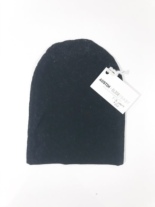 SALE - Slouch Beanies - Black Knit