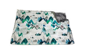 "Evergreen ""Call of the Mountains"" Minky Blanket - Baby Blanket Size"