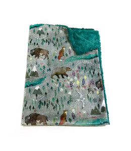 Great north woodland minky baby blanket