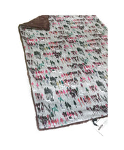 "Load image into Gallery viewer, SALE Plum ""Wintery Woods"" Minky Blanket - Baby Blanket Size"