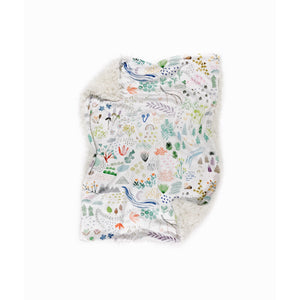 watercolour field minky baby blanket