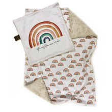 Load image into Gallery viewer, Earthtone Rainbows Minky Blanket - Baby Blanket Size
