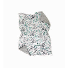 Load image into Gallery viewer, Watercolour Teal Elephant Minky Blanket - Baby Blanket Size