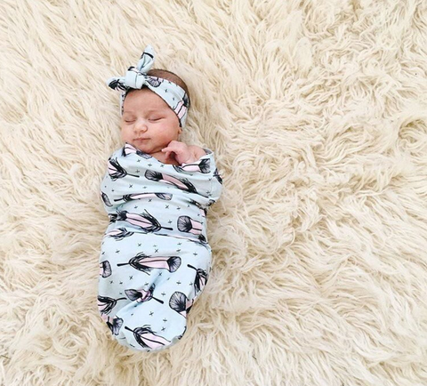 Feather Swaddle Sack Set