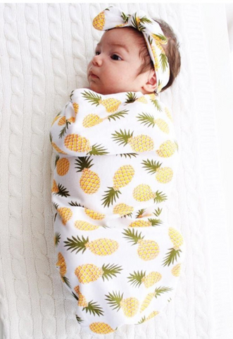 Pineapple Swaddle Sack Set