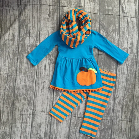 Pumpkin Pom Pom 3PC Set