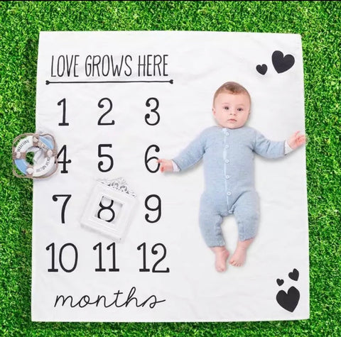 Love Grows Here Milestone Blanket