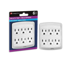 Multiplus 6 outlets / grounded tap / white