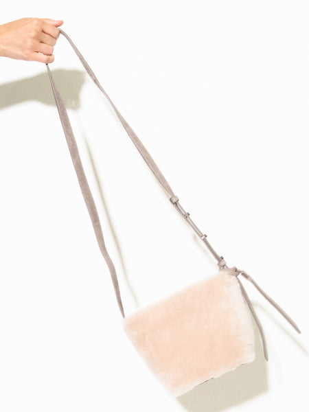 Jimmy Italian Leather Shearling Crossbody Bucket Bag