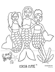 Be A Mermaid Coloring Page 1