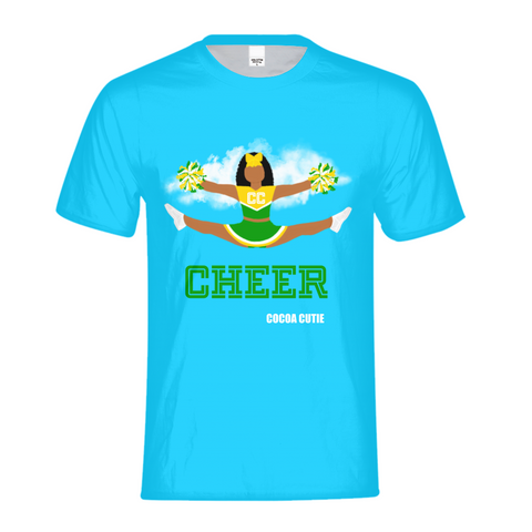 Cheerleader Jordyn/Medium Dark Skin- GREEN Kids Performance Tee
