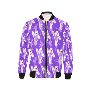 Purple Ballerina Mackenzie Kid's Bomber Jacket