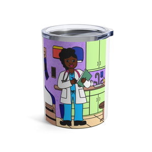 "Doctor Yanna ""I Dream. I Will"" Cocoa Cutie Stainless Steel Tumbler 10oz"