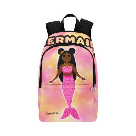 Pink Mermaid Cocoa Cutie Canvas Backpacks(3 Skintones)