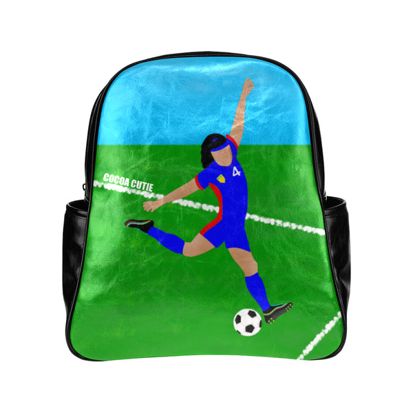 Soccer(Kiara) Cocoa Cutie Junior Faux Leather Backpack-Medium Light Skin