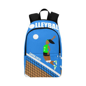Volleyball Cocoa Cutie Canvas Backpacks(2 Colors)-GIRL