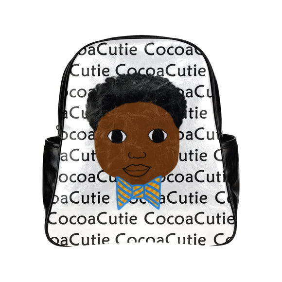 Bow Tie Cocoa Cutie Junior Faux Leather Backpacks(2 Skintones)-Boy