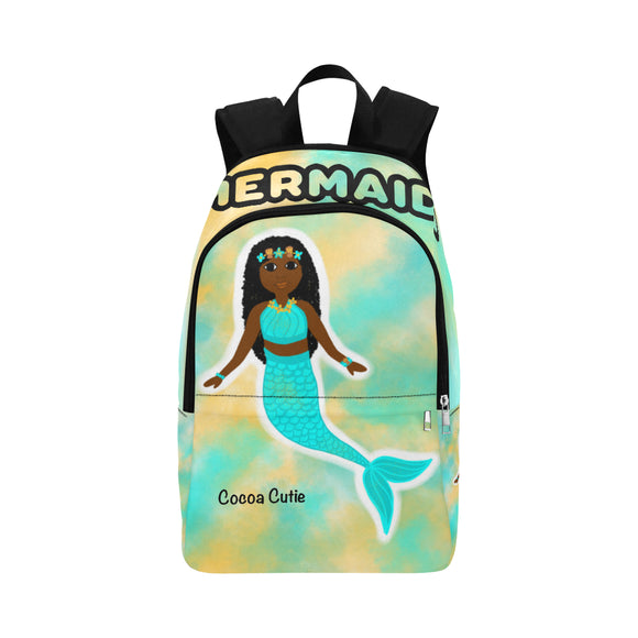 Blue Mermaid Cocoa Cutie Canvas Backpacks(3 Skintones)