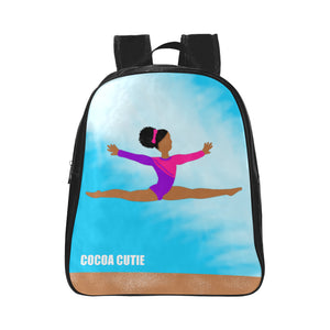 Gymnast Cocoa Cutie Preschool/Toddler Faux Leather Mini Backpacks(Three Skin Tones)