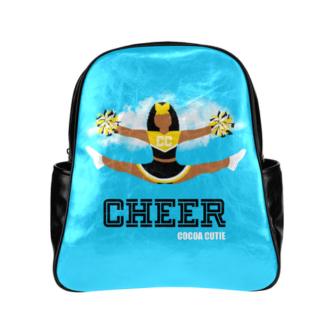 Cheerleader Cocoa Cutie Faux Leather Junior Backpacks(6 Colors)-Jordyn/Medium Dark Skin
