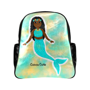 Mermaid Cocoa Cutie Junior Faux Leather Backpacks(BLUE, PINK, or PURPLE)