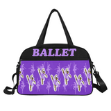 Purple Black Ballerina Dance Competition Ballet Duffel Bag