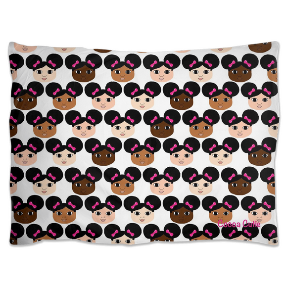 Cocoa Cuties Pillow Sham-Afro Puffs