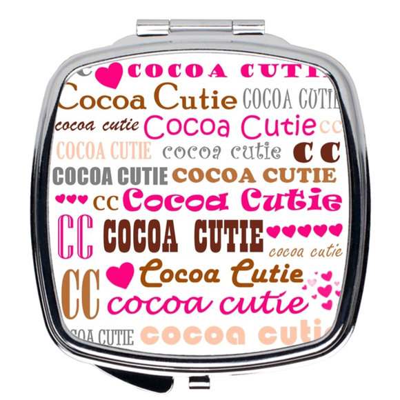 I Heart Cocoa Cutie PINK Compact Mirror