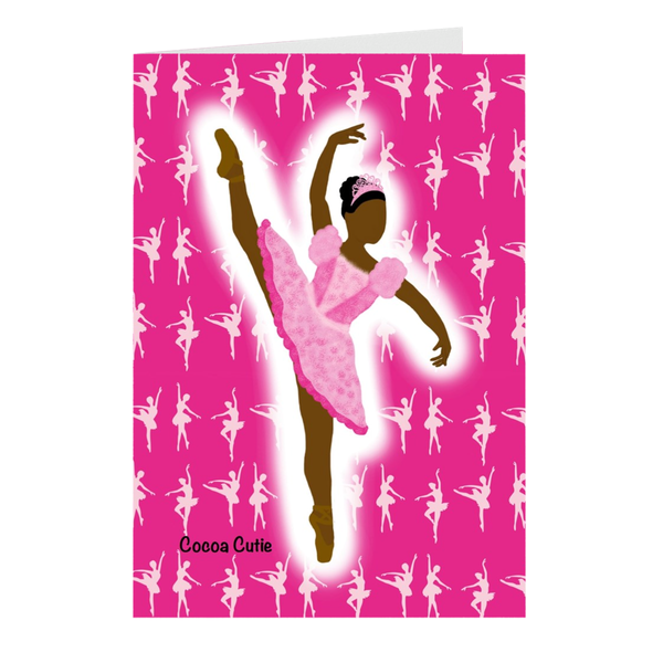 Pink Ballerina Cocoa Cutie Note Card Set