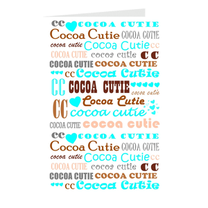 I Heart Cocoa Cutie TEAL Note Card Set