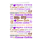 I Heart Cocoa Cutie PURPLE Note Card Set