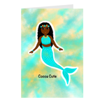 Blue Mermaid Cocoa Cutie Note Card Set