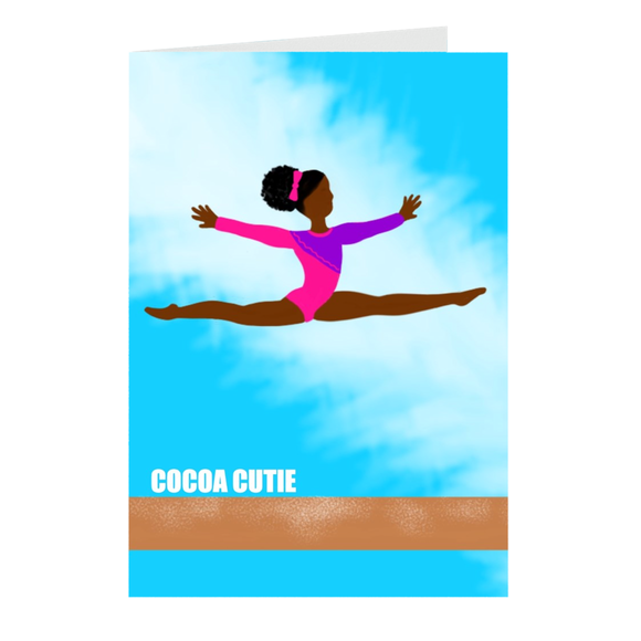 Gymnast Cocoa Cutie Note Card Set