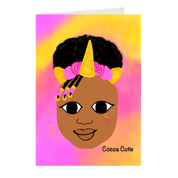 Unicorn Cocoa Cutie Note Card Set(Jordyn)