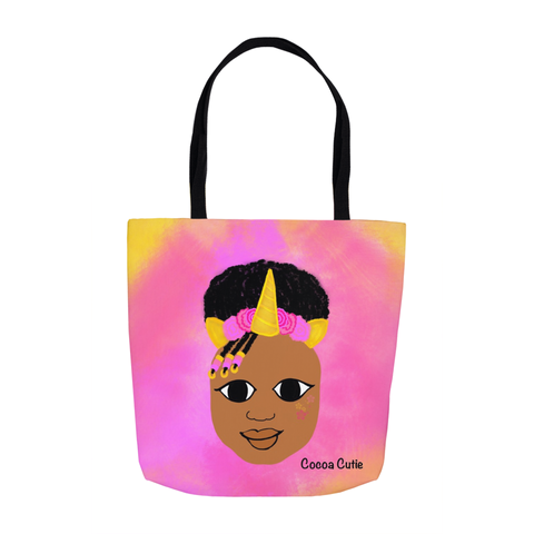 Unicorn(Jordyn) Cocoa Cutie Shoulder Tote Bags-Medium Dark Skin