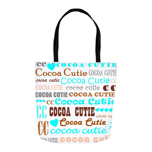 I Heart Cocoa Cutie Shoulder Tote Bags-Teal
