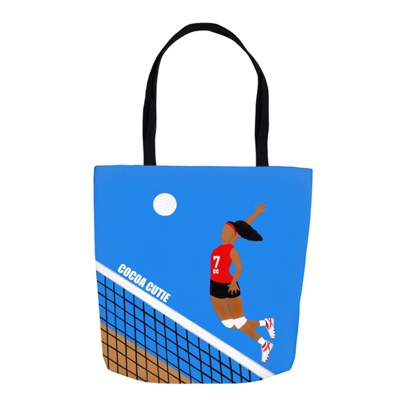 Volleyball Cocoa Cutie Shoulder Tote Bags-Red(GIRL)